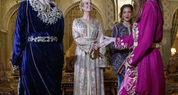 بالصور..إيفانكا ترامب تتألق بالزي التقليدي المغربي