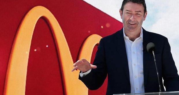 اقالة المدير التنفيذي لماكدونالدز بسبب علاقة غرامية