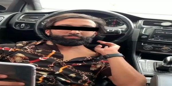 توقيف الشاب الذي كان يسوق بطريقة خطرة على سكة الترامواي