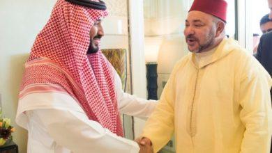 صورة الملك يتوصل ببرقية تهنئة من ولي العهد السعودي