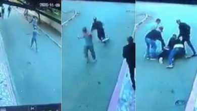 """صورة مغاربة يشيدون بتدخل بطولي لأحد رجال الشرطة تجاه شخص يحمل """"سيفين"""" بسلا -فيديو"""