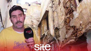 صورة سقط سقفه على امرأة وطفل.. منزل آيل للإنهيار يهدد حياة أسرة في البيضاء-فيديو
