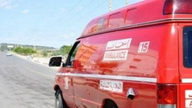 صورة انقلاب حافلة لنقل التلاميذ نواحي أكادير