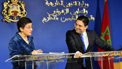 صورة بوريطة يجري مباحثات مع وزيرة الشؤون الخارجية الإسبانية