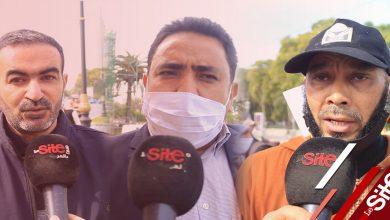 """صورة أساتذة الزنزانة 10 يحتجون بالرباط ضد أمزازي وينددون بـ """"القمع"""" -فيديو"""
