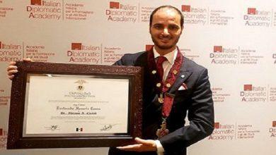 صورة المغربي عبدالرحمان شبيب يحصل على وسام الاستحقاق برتبة فارس للجمهورية الإيطالية