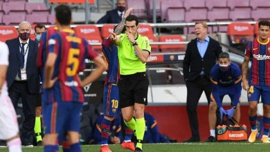 صورة حكم نهائي كأس ملك إسبانيا يثير مخاوف لاعبي برشلونة
