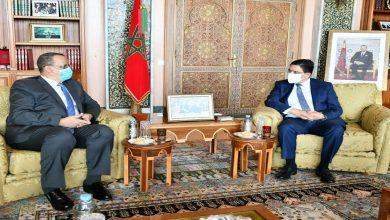 صورة بوريطة يستقبل وزير الشؤون الخارجية والتعاون الموريتاني