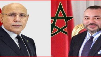 صورة رسالة من الرئيس الموريتاني إلى الملك محمد السادس