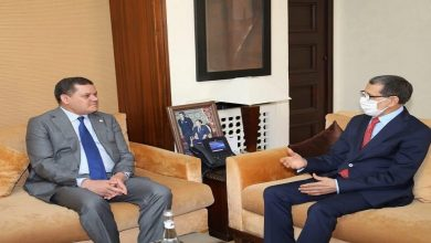 صورة العثماني يستقبل رئيس حكومة الوحدة الوطنية الليبية