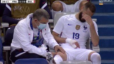 صورة بنزيما يغادر لقاء بلغاريا مصابا والخوف ينتاب جماهير المنتخب الفرنسي