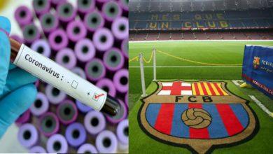 """صورة نجم برشلونة الجديد يصاب بفيروس """"كورونا"""""""