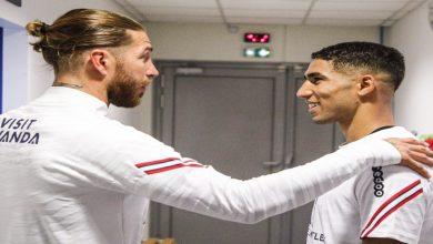 صورة الحصة التدريبية لباريس سان جيرمان تشهد لقاءً خاصا بين حكيمي وراموس