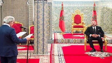 صورة الملك يستقبل والي بنك المغرب