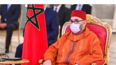 صورة برقية تهنئة للملك من عاهل بلجيكا بمناسبة عيد العرش المجيد