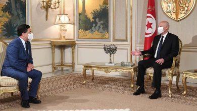 صورة بوريطة يحمل رسالة من الملك محمد السادس إلى الرئيس التونسي