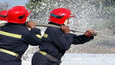 صورة حريق مهول نواحي بني ملال يصيب شخصين