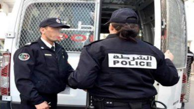 """صورة إيقاف فتاتين اعتديتا على شرطي بسبب """"الكمامة"""" في المحمدية"""