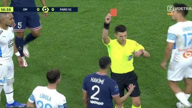 صورة ردود الفعل.. جماهير باريس سان جيرمان تتفاعل مع طرد حكيمي أمام مارسيليا